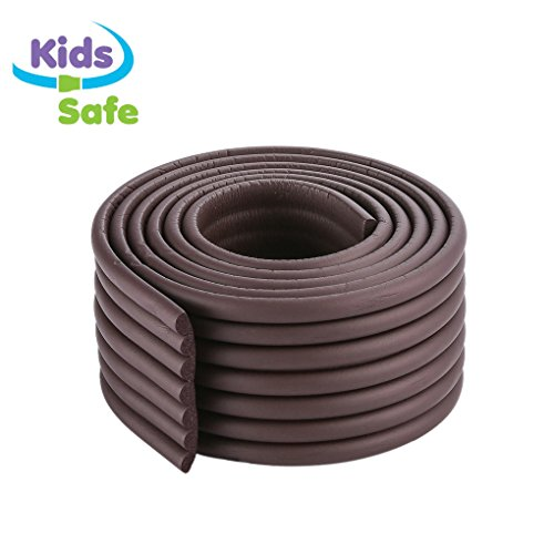 ITRAZ Baby Safety Protectors Table Edge Safe Anti-Collision Bar Corner Bumpers Guard Strip With 3M Adhesive 6.50.30.03Ft (ROSEWOOD)