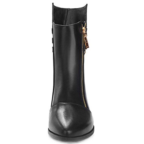 RAZAMAZA Women Boots Zipper Black SDrdihz