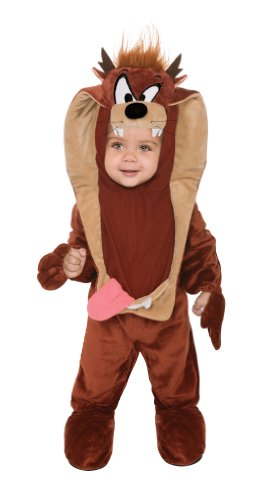 Looney Tunes Taz Romper Costume, Brown, 6-12 Months (Baby Devil Costume)