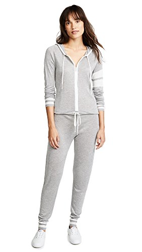 Spiritual Gangster Women's x Madeleine Thompson Stripe Jumpsuit, Heather Grey, - Madeleine Grey