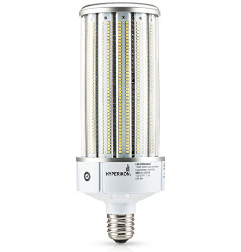 Hyperikon LED Corn Bulb Street Light 150W (HIP/HID Replacement) 19500 Lumen, Large Mogul E39 Base, 5000K Outdoor Indoor Area Lighting, IP64 Waterproof, UL by Hyperikon