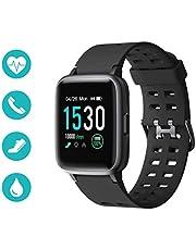 Huyeta Smart Watch mit Pulsmesser Sport Uhr Smart Uhr Wasserdicht Fitness Tracker Aktivitätstracker Pulsuhren mit Kalorienzähler Schlafmonitor,Kamera,SMS für Damen Herren für IOS Android