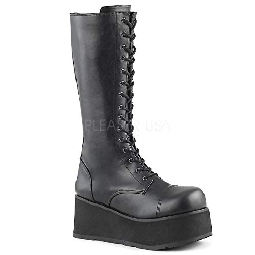 Demonia TRASHVILLE-502 Unisex Platform Shoes & Boots, Black, 9
