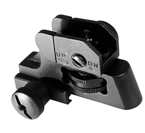Tactical Match-grade Detachable Rear Sight for Picatinny Rails Rifle Shotgun BLK ()