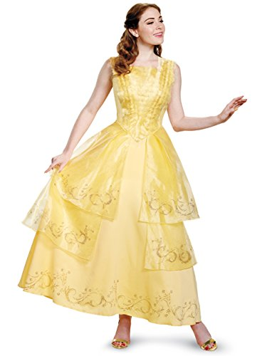 Disney Women's Plus Size Belle Ball Gown Prestige Adult Costume, Yellow, ()