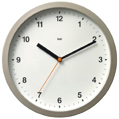 BAI Designer Wall Clock, Helio White (Bai Wall Clock)