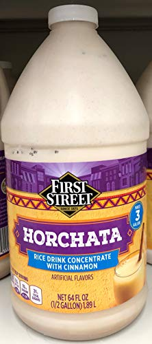 - 64 fl oz First Street Horchata Rice Drink Concentrate with Cinnamon, Pack of 1