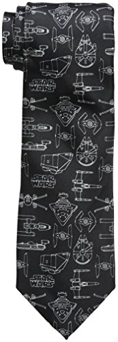 Star Wars Men's Line Drawing Tie black, One Size (Star Wars Tie)
