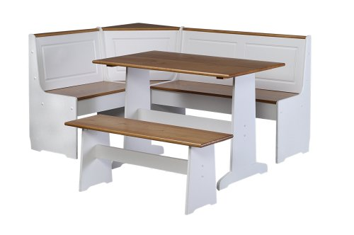 Linon Ardmore Kitchen Nook Set (With Breakfast Bench Nook)