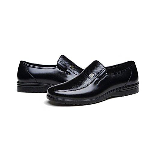 Papá De Primavera Cuero Hombre Casual Edad De De Transpirable Negocios Moda Zapatos LYZGF Black Mediana De wIP0wqT