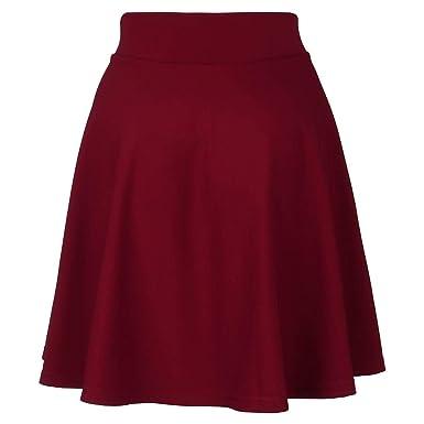 Kailemei (Cellida Mini Falda Corta para Mujer, Falda Plisada Lisa ...