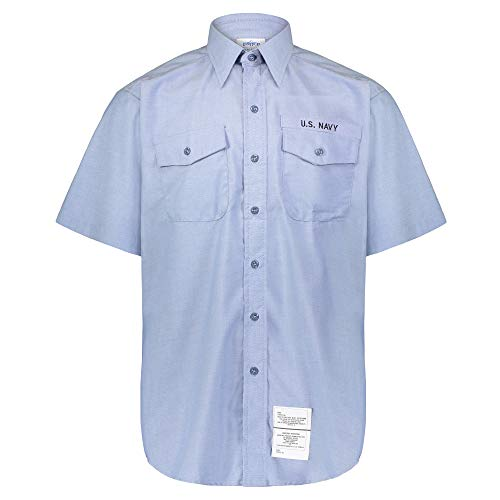 Men's U.S. Navy Utility Work Shirt Chambray - Short Sleeve