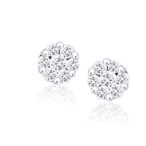 Giantti 14carats Diamant pour femme Boucles d'oreille à tige (0.322CT, VS/Si-clarity, Gh-colour)