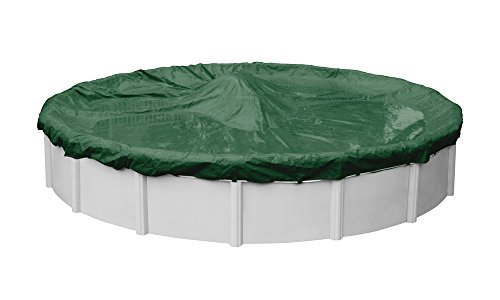 Pool Mate 3724-4-PM Forest Green Winter Pool Cover for Round Above Ground Swimming Pools, 24-ft. Round Pool