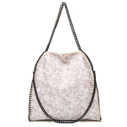 Leather Large Bag Off Chain Strap Women for PU Daily Travel Shopping Totes Casual Hobo White Use Shoulder Handbag TOYIS ngzRxP