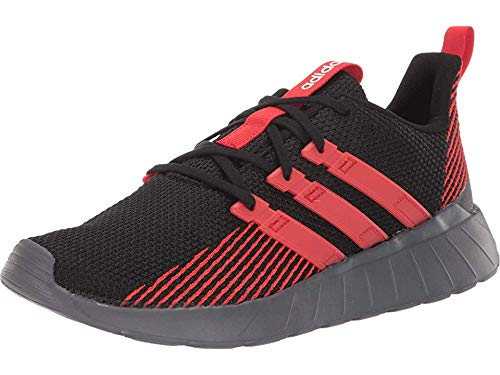 adidas Men's Questar Flow Running Shoe, Black/Active Red/Grey, 10 M US