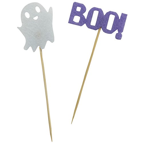 Halloween Cake Topper Kit Boo Ghost 2pcs - Excellent Home Decor - Indoor & Outdoor