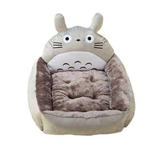 Grey Cartoon My Neighbor Totoro Pet Cat Dog Beds