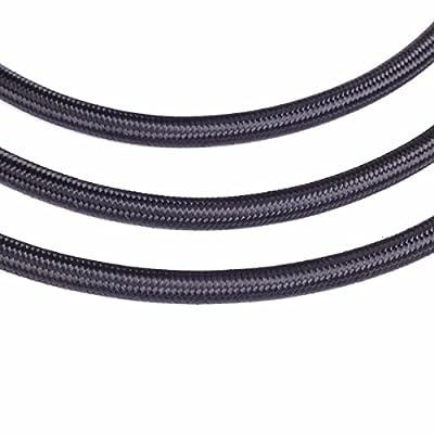 Nylon Fuel Line Oil Gas Line Fuel Hose 10FEET (Black, AN-4): Automotive