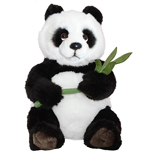 BRUBAKER Panda Stuffed Animal with Bamboo - 11 Inches - Plush Toy - Soft Toy
