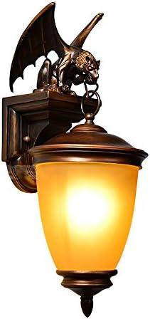 TOYM UK Kreative Amerikanische Retro-Fledermaus, Die Wasserdichte Wandlampe Im Europäischen Stil Für Außenbeleuchtung Von Marmorleuchten Für Villen-Bars Modelliert