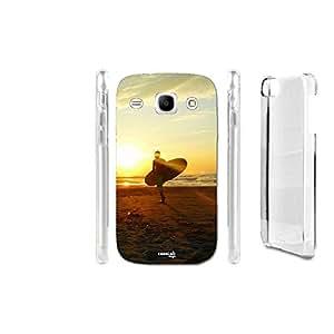 caselabdesigns Hard Back Case Cover Surf hombre mar para Samsung Galaxy Core GT-i8260–Cuerpo en material duro protección