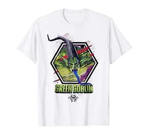Marvel Spider-Man Spiderverse Green Goblin Hexagon T-Shirt