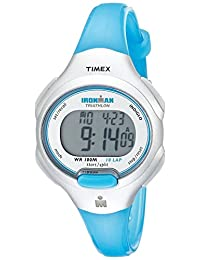 Timex Women's T5K739 Ironman Essential 10 Mid-Size Turquoise Resin Strap Watch