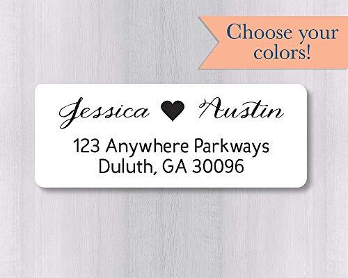 60ct - Wedding Invitation Return Address Labels, Wedding Invitation Return Address Stickers (#338-WH) -