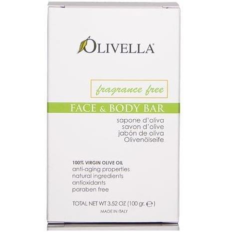 Bar Soap 100% Virgin Olive Oil Fragrance Free Olivella 3.5 oz Bar Soap (Saponified Water Olive Oil)