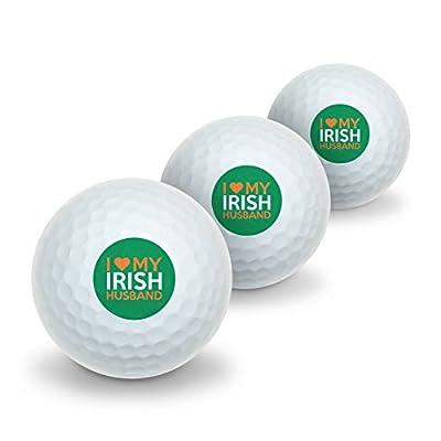 I Love My Irish Husband Novelty Golf Balls 3 Pack