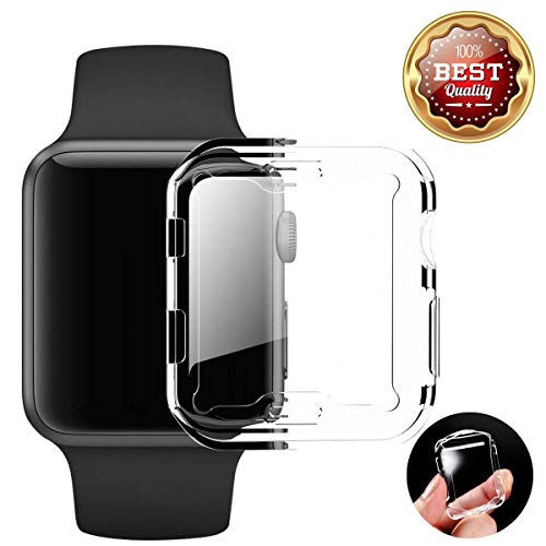 Price comparison product image Protective Film Apple Watch 38mm/42mm Waterproof Bulletproof Glass 3D Full Cover Sport Edition Nike + (42mm, Clear)