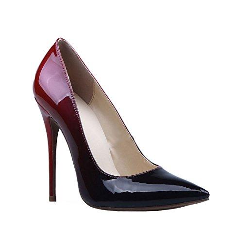 TDA - Sandalias con cuña mujer rojo/negro