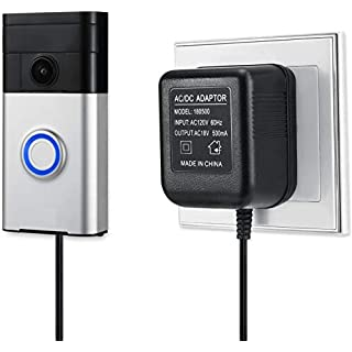 Power Supply Adapter for The Ring Video Doorbell, Ring Video Doorbell 2, Ring Video Doorbell Pro, Zmodo Smart Greet Video Doorbell, eufy Security Doorbell, and Arlo Doorbell by Wasserstein