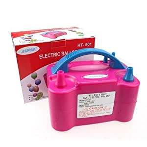 Youmay HT-501 Automatic Two Nozzles Balloon Air Pump - Pink
