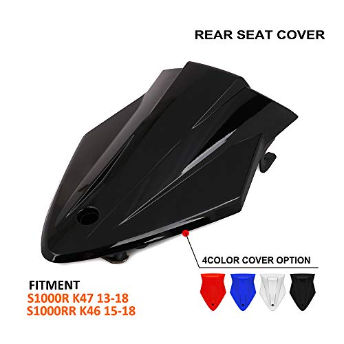 (Motorcycle Black Rear Seat Cowl Passenger Pillion Fairing Tail Cover For BMW S1000R K47 2013-2018,BMW S1000RR K46 2015-2018)