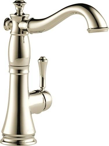 Delta Faucet 1997LF-PN Single Handle Bar/Prep Faucet, Polished Nickel - Pn Single Handle