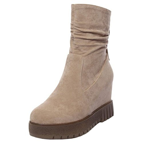 VulusValas Boots Apricot Ankle Simple Women High qgpY0