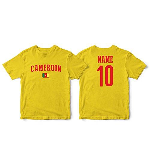 (nobrand Cameroon Men's National Pride Man Soccer Flag Team T-Shirt (Men Yellow M))