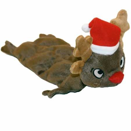 - Outward Hound Kyjen  PP03382 Squeaker Mat Reindeer 8-Squeaker Plush Squeak Toy Dog Toys, Medium, Brown