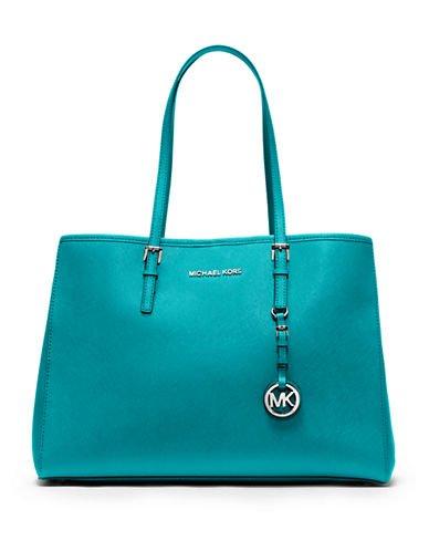 13a501854b2a86 Michael Kors Jet Set Travel Large EW Tote Tile Blue: Handbags: Amazon.com
