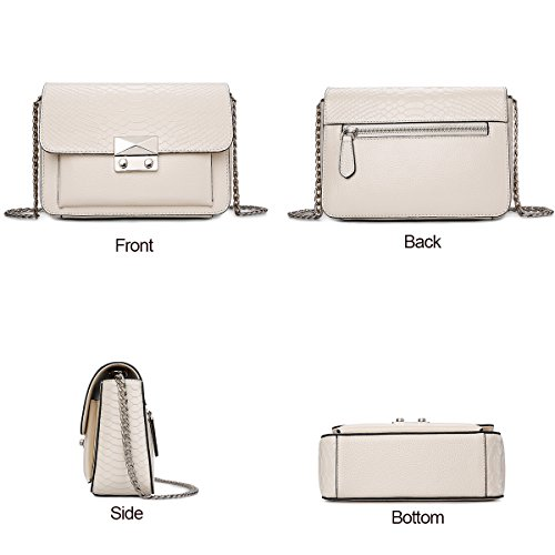 Women Shoulder Beige Purses ZOOLER Body Ladies Cross for Designer Genuine Bags Leather dw04Pf