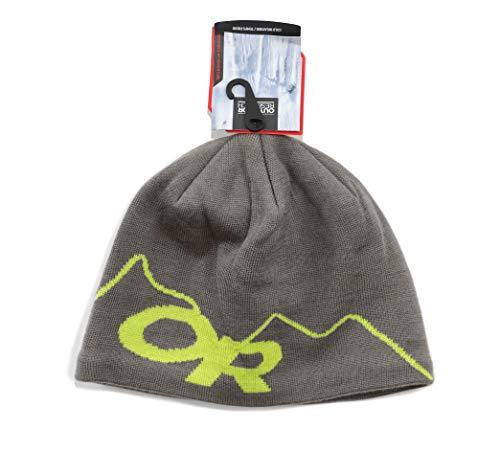 (Outdoor Research Storm Beanie, Pewter/Lemongrass,)