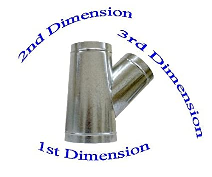 SMK 10 x 10 x 10 Duct Wye Branch HVAC Ductwork AC Duct Fittings