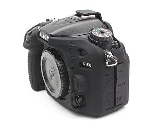 CEARI Professional Silicone Camera Case Rubber Housing Protective Cover for Nikon D7100 D7200 Digital SLR Camera - (Camera Silicon Case)