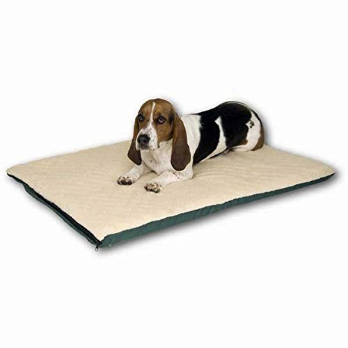(K&H Pet Products Ortho Thermo Bed Large White and Green 24