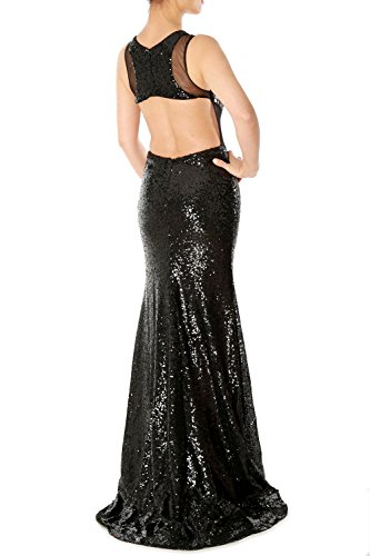 Green Evening MACloth Sequin Gown Prom Gorgeous Party Mermaid Dress Cut Out Long HqPzqgn