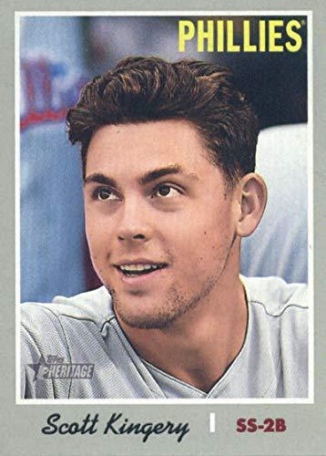 (2019 Topps Heritage #186 Scott Kingery Philadelphia Phillies Baseball Card)