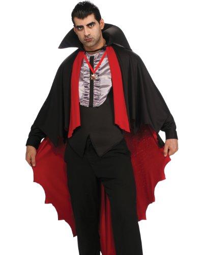 Rubie's Costume Dress To Kill Vampire, Black/Red, Standard (Sexy Male Vampire Costume)