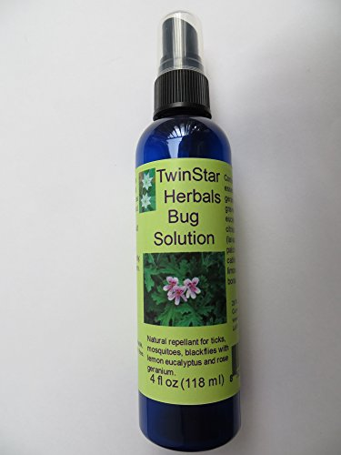 Bug Solution 4 oz insect repellent natural essential oils with rose geranium and lemon eucalyptus